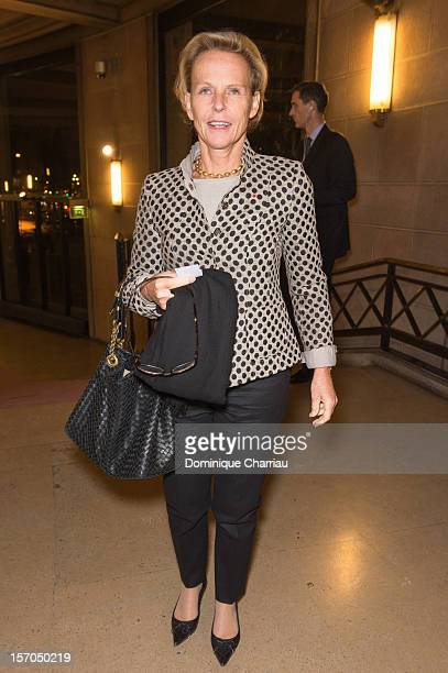 Christine Ockrent attends the annual gala evening of the FrenchAmerican Foundation at the Palais d'Iena honoring American artist Jeff Koons on...