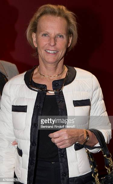Christine Ockrent attends the Martine Aublet Foundation Award Gala Night at the Musee Du Quai Branly on March 3 2014 in Paris France