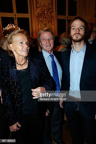Christine Ockrent Bernard Koucner and them son Alexandre Kouchner at Laurence Haim Is Honoured With The Insignes De Chevalier De La Legion D'Honneur...
