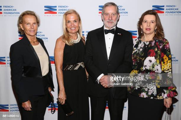 Christine Ockrent Jane Hartley Allan Chapin and Sophie Bellon attend French American Foundation Annual Gala 2017 at Gotham Hall on November 28 2017...