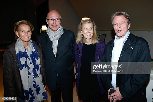 Christine Ockrent President of Musee du Quai Branly Stephane Martin Miss Louis Schweitzer and Bernard Kouchner attend the Presentation of 'Martine...