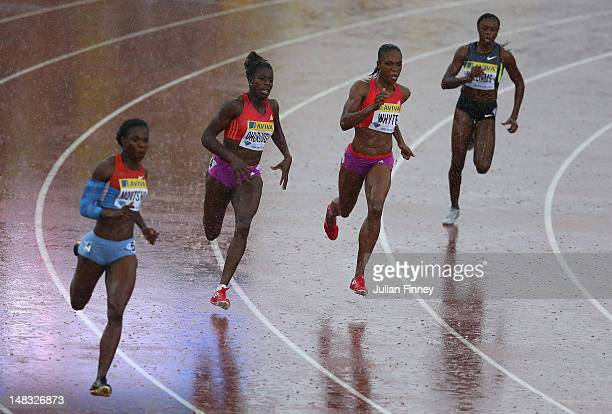 Christine Ohuruogu of Great Britain competes in the 400m during day two of the Aviva London Grand Prix at Crystal Palace on July 14, 2012 in London,...