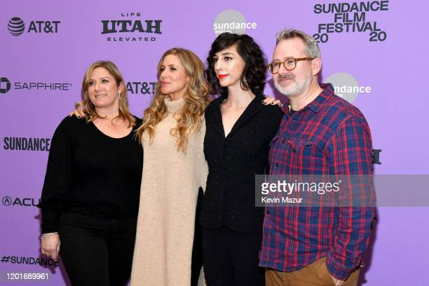 Christine O'Malley Caitrin Rogers Lana Wilson and Morgan Neville attend the Netflix premiere of Miss Americana at Sundance Film Festival on January...