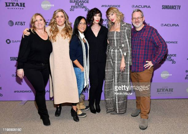 Christine O'Malley Caitrin Rogers Lana Wilson Taylor Swift and Morgan Neville attend the Netflix premiere of Miss Americana at Sundance Film Festival...