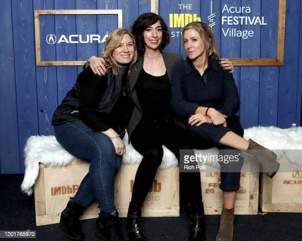 Christine O'Malley Lana Wilson and Caitrin Rogers of 'Miss Americana' attend the IMDb Studio at Acura Festival Village on location at the 2020...