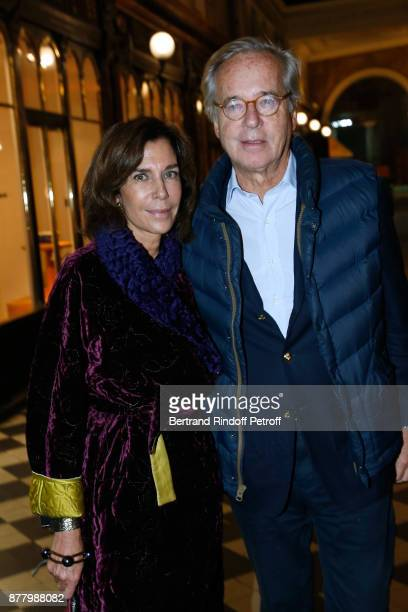 Christine Orban and her husband Olivier Orban attend the Ligne Blanche Boutique Opening at Galerie VeroDodat on November 23 2017 in Paris France