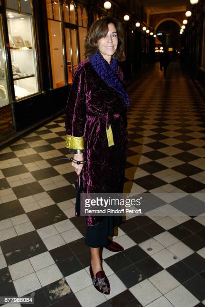 Christine Orban attends the Ligne Blanche Boutique Opening at Galerie VeroDodat on November 23 2017 in Paris France