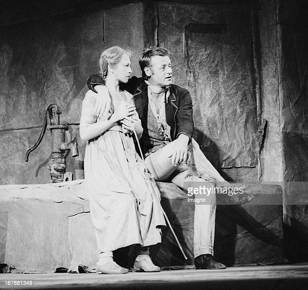 Christine Ostermayer as Salome Pockerl and Helmuth Lohner as Titus Feuerfuchs in Der Talisman by Johann Nepomuk Nestroy Salzburger Landestheater...