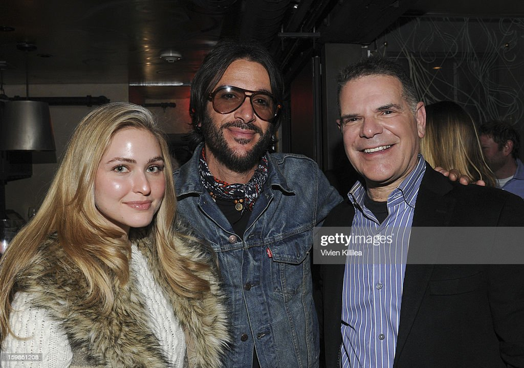 Christine Pedersen, musician Rami Jaffee and Jack Myers attend Focus Forward - Short Films Big Ideas Dinner - 2013 Park City on January 21, 2013 in Park City, Utah.