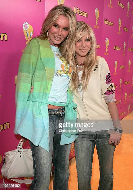 Christine Peters and daughter Caleigh Peters during Tweety Natural Blonde Shopping Party and Clothing Launch Arrivals at Kitson in Los Angeles...