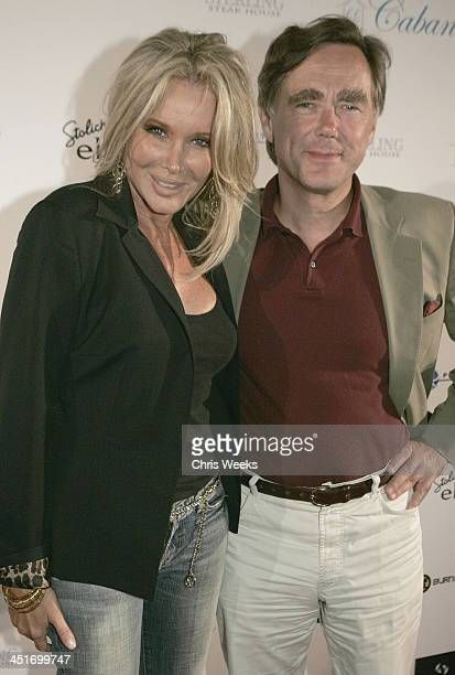 Christine Peters and Dr Winfried Hammacher during Cabana Club Grand Opening July 15 2005 at Cabana Club in Hollywood California United States