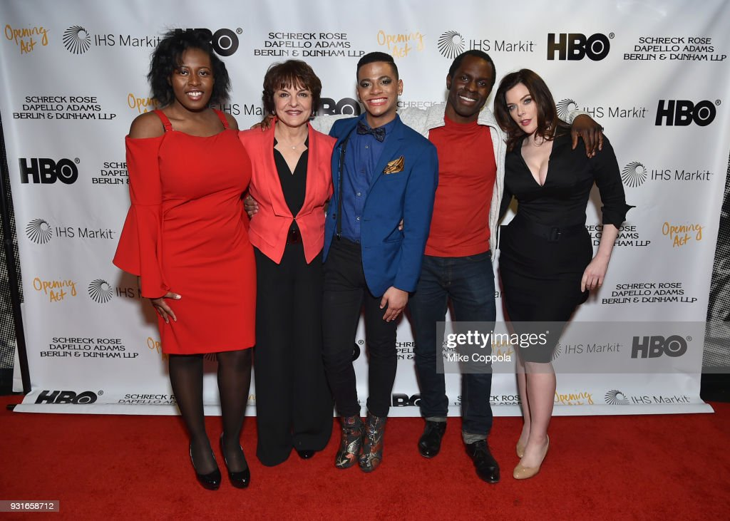 Christine Pluviose, Priscilla Lopez, IQ, Gbenga Akinnagbe, and Kim Director attend Opening Act's 12th Annual Benefit Play Reading 'Hear Me Here' At New World Stages on March 13, 2018 in New York City.