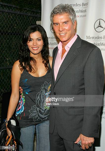 Christine Prado and boxing announcer Michael Buffer attend Mercedes Benz Fashion Week held at Smashbox Studios on March 21 2007 in Culver City...