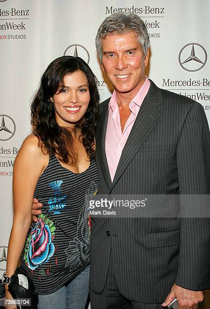 Christine Prado and boxing announcer Michael Buffer attends Mercedes Benz Fashion Week held at Smashbox Studios on March 21 2007 in Culver City...
