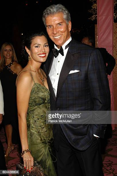 Christine Prado and Michael Buffer attend HBO Emmy After Party at Pacific Design Center on August 27 2006