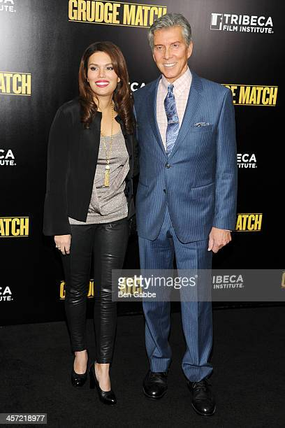 Christine Prado and Michael Buffer attend the Grudge Match screening benefiting the Tribeca Film Insititute at Ziegfeld Theater on December 16 2013...