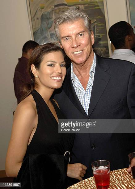 """Christine Prado and Michael Buffer during """"End Game"""" Los Angeles Premiere at The Academy of Motion Picture Arts and Sciences in Hollywood,..."""