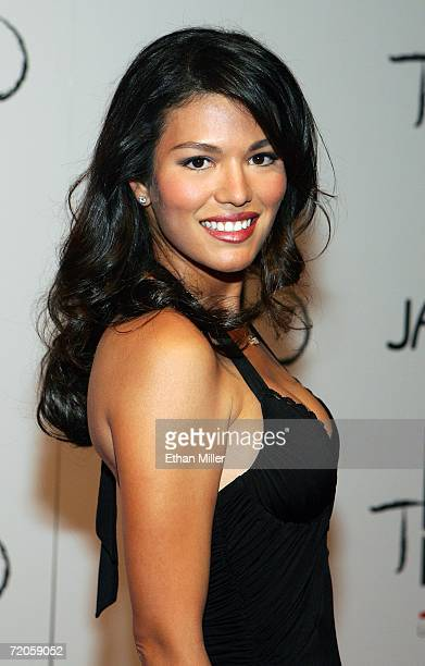 Christine Prado arrives at the Tao Nightclub at the Venetian Resort Hotel Casino during the club's anniversary party September 30 2006 in Las Vegas...