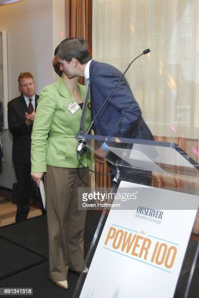 Christine Quinn and Jared Kushner attend the Observer Media Group The Power 100 at The Core Club on June 18 2012 in New York City