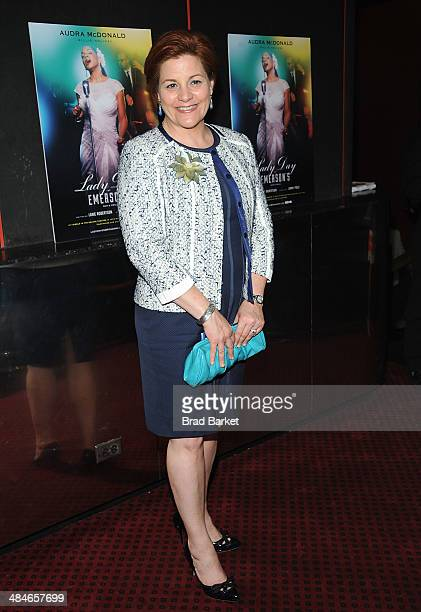 Christine Quinn attends 'Lady Day At Emerson's Bar Grill' Opening Night at Circle in the Square on April 13 2014 in New York City