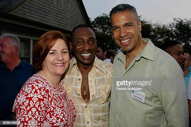 Christine Quinn Daryl Bowman and David Mensah attend School's Out Benefiting the HetrickMartin Institute at East Hampton on June 2 2007 in East...