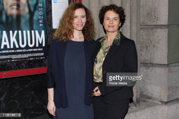 """Christine Repond and Barbara Auer during the """"Vakuum"""" Photocall on March 11, 2019 in Hamburg, Germany."""