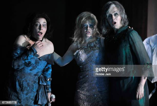 Christine Rice as Blanca Delgado Sally Matthews as Silvia de Avila and Anne Sofie von Otter as Leonora Palma in the Royal Opera's production of...