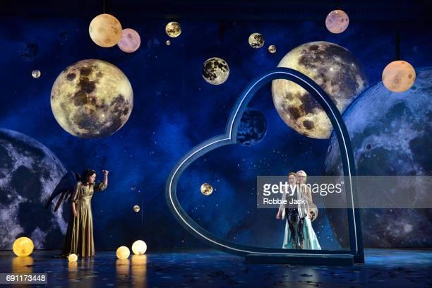 Christine Rice as Juno Heidi Stober as Semele and Jurgita Adamonyte as Ino in Garsington Opera's production of Georg Frideric Handel's Semele...