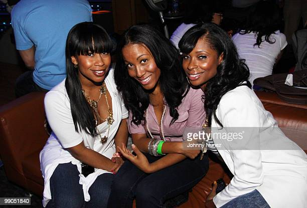 Christine Rice, Lexi Chow, and Jennifer Williams attend Bottles & Strikes at Chelsea Piers on May 11, 2010 in New York City.