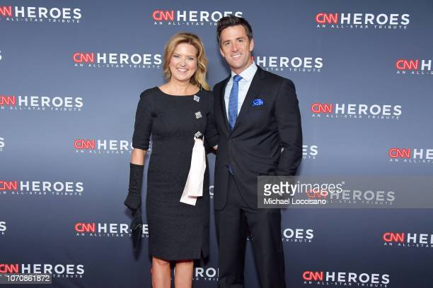 Christine Romans and Dave Briggs attend the 12th Annual CNN Heroes An AllStar Tribute at American Museum of Natural History on December 9 2018 in New...