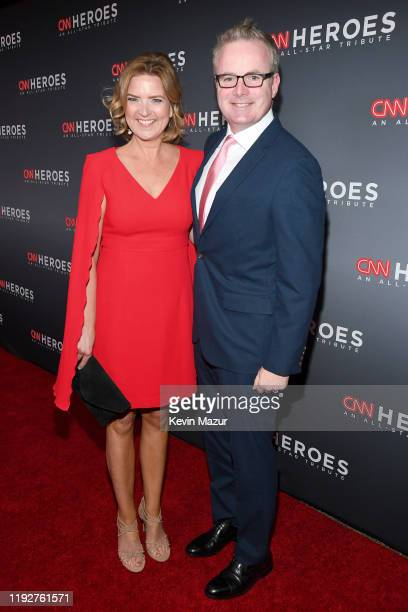 Christine Romans and Ed Tobin attend CNN Heroes at American Museum of Natural History on December 08 2019 in New York City