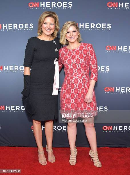 Christine Romans and Kate Bolduan attend the 12th Annual CNN Heroes An AllStar Tribute at American Museum of Natural History on December 9 2018 in...
