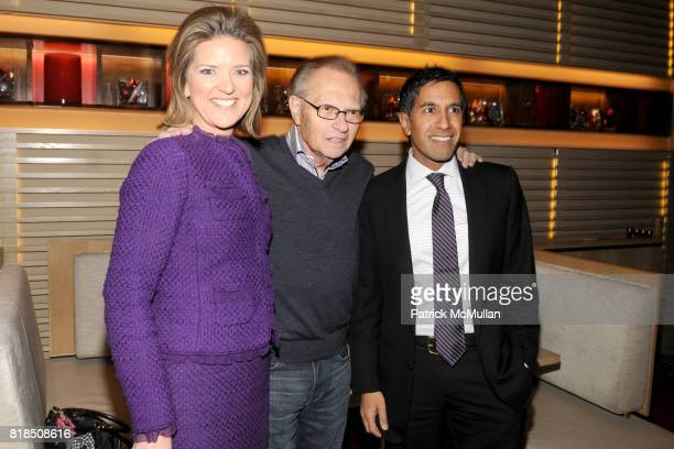 Christine Romans Larry King Dr Sanjay Gupta attend the Reception For DR SANJAY GUPTA's Book and DVD CHEATING DEATH at Rogue Tomate on December 14...