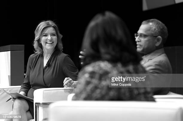 Christine Romans Mo Katibeh and Sarita Rao speak onstage during CNN Experience on March 05 2020 in New York City 749078 CNN Experience