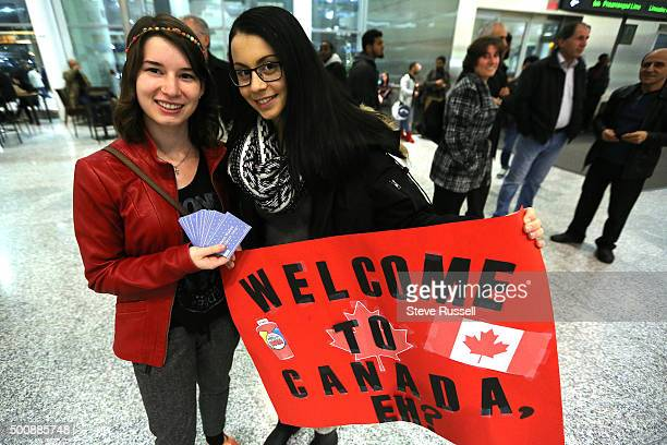 Christine Ross and Joja SmiljanicJazic drove in from Guelph to lend support to the Refugees and drop off 40 five dollar Tim Horton's gift cards...