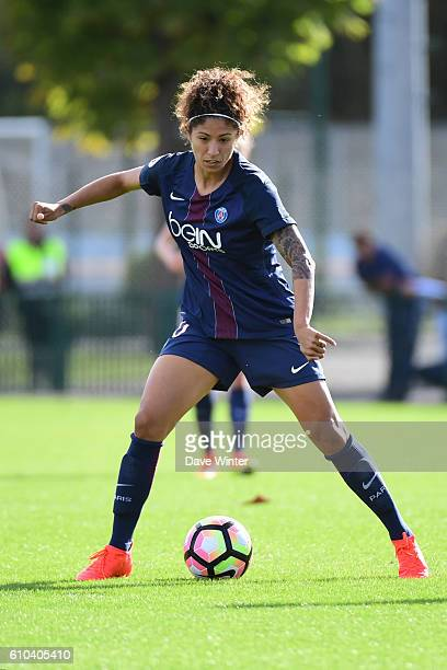 Christine Rozeira of PSG during the women's French D1 league match between PSG and Olympique de Marseille at Camp des Loges on September 25 2016 in...