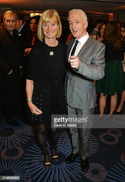 Christine Savage and Anthony Daniels attend the Jameson Empire Awards 2016 at The Grosvenor House Hotel on March 20 2016 in London England