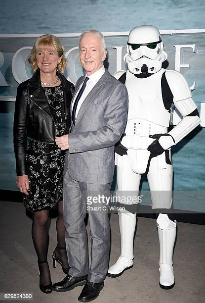 Christine Savage and Anthony Daniels attend the launch event and reception for Lucasfilm's highly anticipated firstever standalone Star Wars...