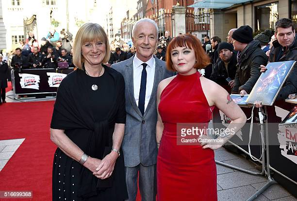 Christine Savage Anthony Daniels and Terri White attend the Jameson Empire Awards 2016 at The Grosvenor House Hotel on March 20 2016 in London England