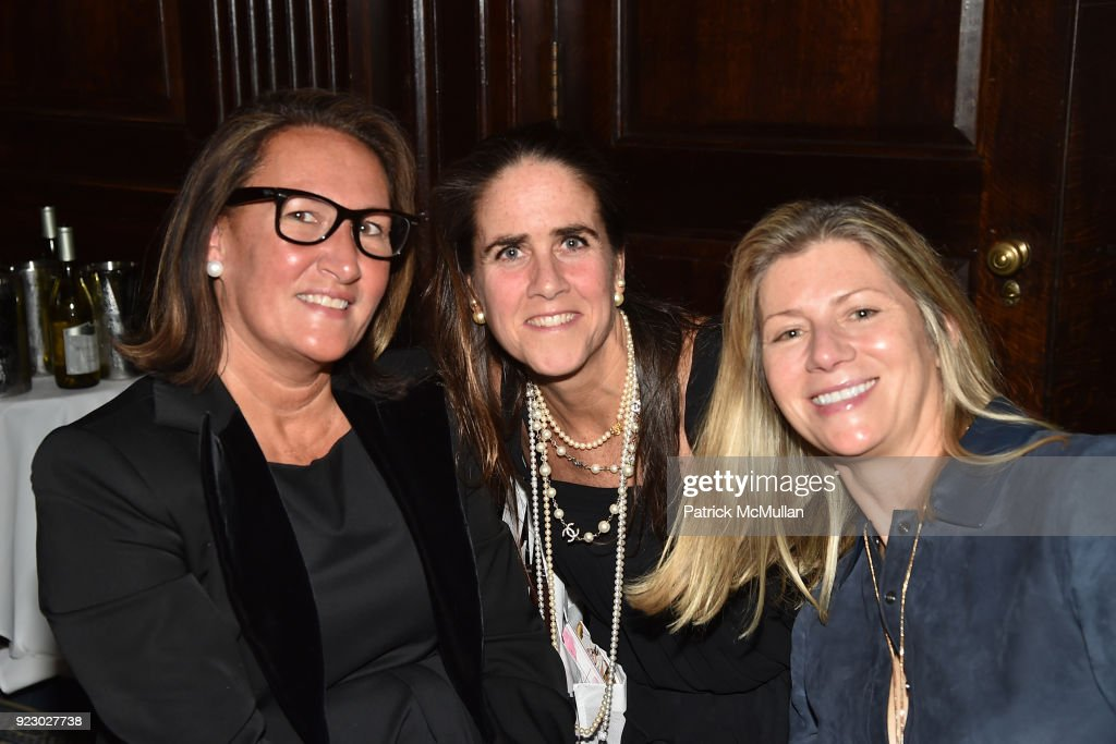 Christine Schott Ledes, Julie Pruett and Agnes Chapski attend Symrise's Achim Daub & ReVive's Elena Drell Szyfer honored at BEYOND BEAUTY Dinner 2018; Special Speaker: Actor and Mental Health Advocate Danielle Lauder at The Union League Club on February 15, 2018 in New York City.
