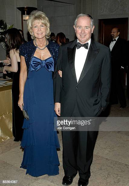 Christine Schwarzman and Chairman and CEO of Blackstone Group Stephen Schwarzman attend The Frick Collection Autumn dinner at The Frick Collection on...