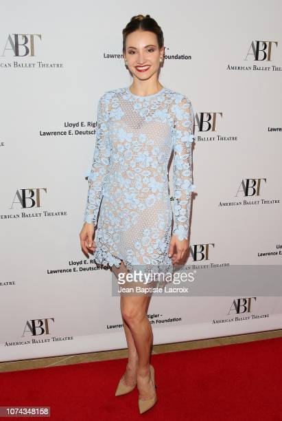 Christine Shevchenko arrives to the American Ballet Theatre's Annual Holiday Benefit held at The Beverly Hilton Hotel on December 17 2018 in Beverly...