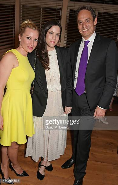 Christine Sieg Liv Tyler and Andre Konsbruck Director of Audi UK attend as Audi hosts the opening night performance of 'La Fille Mal Gardee' at The...