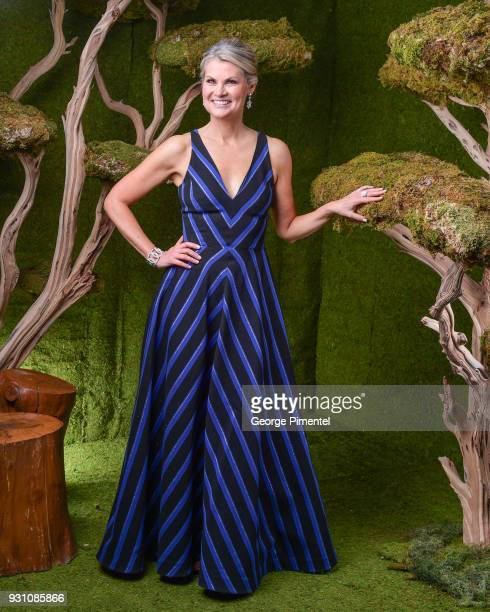 Christine Simpson poses in the 2018 Canadian Screen Awards Broadcast Gala Portrait Studio at Sony Centre for the Performing Arts on March 11 2018 in...