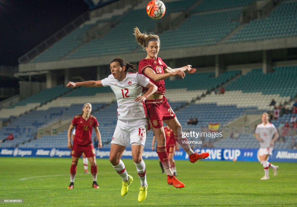 Spain v Canada - Women's Algarve Cup : News Photo