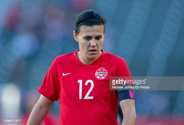Christine Sinclair of Canada during a game between Canada and Costa Rica at Dignity Health Sports Park on February 07 2020 in Carson California
