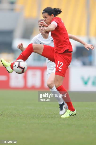 Christine Sinclair of Canada Women in action during the Women's International match between Canada and New Zealand atChongqing Yongchuan Sports...