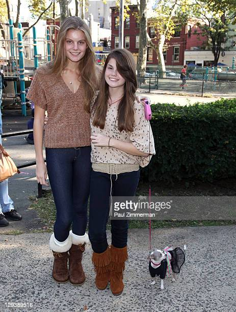 Christine Staub and Jillian Staub attend the 2011 Bark In The Park charity walk at Church Square Park on October 16 2011 in Hoboken New Jersey