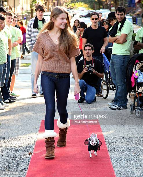 Christine Staub attends the 2011 Bark In The Park charity walk at Church Square Park on October 16 2011 in Hoboken New Jersey