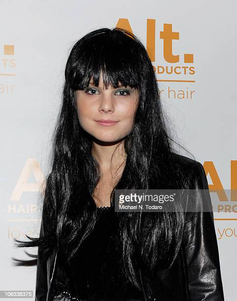 Christine Staub attends the Halloween Disco Ball at Eric Alt Salon on October 28 2010 in WoodRidge New Jersey